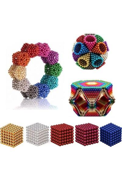 Nts Renkli Manyetik Mıknatıs Toplar 5Mm 216 Adet Neocube Neo Cube Küp Neodymium