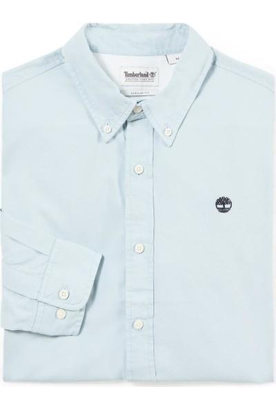 Timberland Ls Wellfleet Solid Oxford Regular Erkek Gömlek Mavi A1OJS