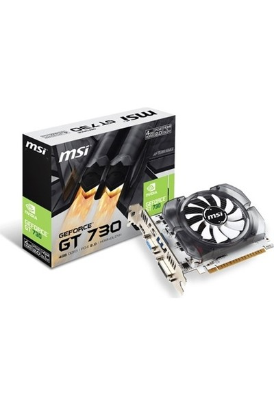 MSI NVIDIA GeForce GT 730 4GD3V2 4GB 128 bit DDR3 DX(12) PCI-E 2.0 Ekran Kartı (N730 4GD3V2)