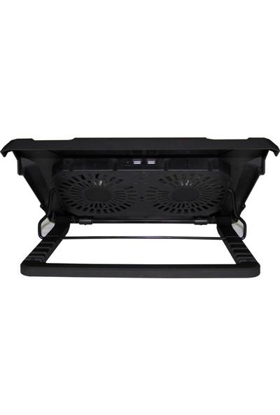 Inca INC-321 RX Ergonomik Çift Fan+ Stand+ With Rubber Sessiz Siyah Notebook Soğutucu