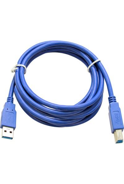 Flaxes FPR-305 USB 3.0 5M %100 Bakır Yazıcı Kablosu AM-BM