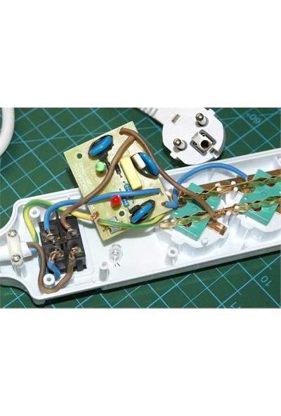 S-Link Spg7-6-15 1.5M 6`Li Akım Korumalı Beyaz Priz