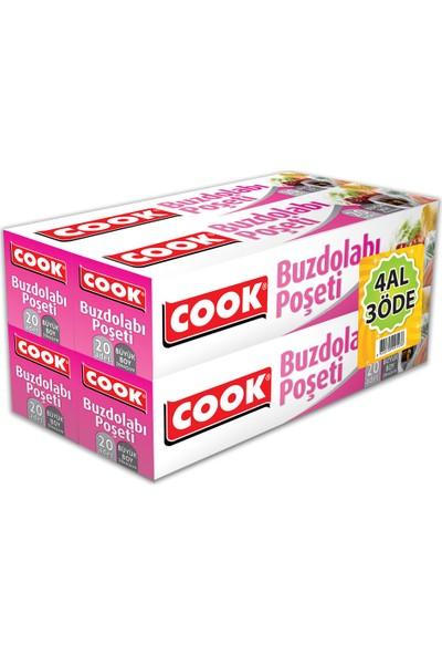 Cook Buzdolabı Poşeti Büyük Boy 30X45Cm