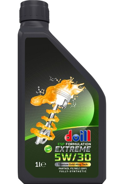 Doill 5W30 Dpf Tam Sentetik Dizel Apı Sn/Cf Acea C3 Partikül Filtre 1 lt