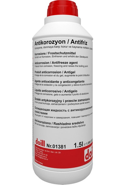Doill -55 Derece Organik Kırmızı Antifriz 1.5 lt