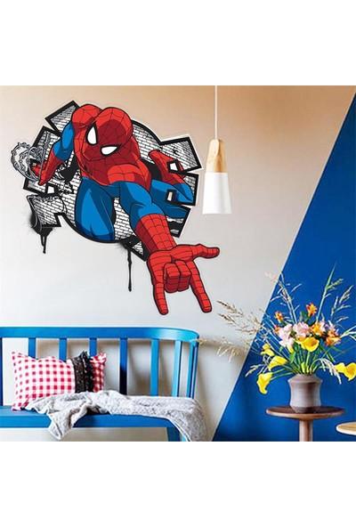 Color Casa Örümcek Adam Spider Man Sticker-Çocuk Odası Duvar Çıkartması