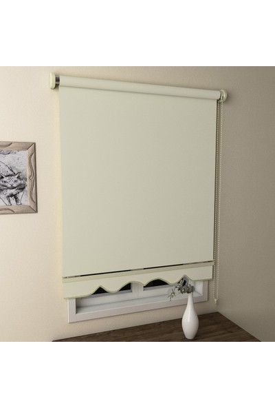 Brillant Düz Stor Perde Krem MS1201 200 x 200 cm