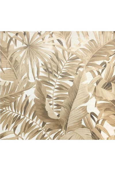 Golden Flamingo 19253 Yaprak Desenli Duvar Kağıdı