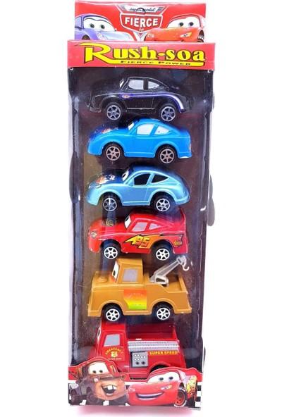 Can Oyuncak Cars Şimşek Mcqueen Araba 6'Lı Set