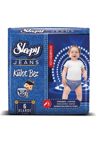 Sleepy Jeans Külot Bebek Bezi 20 Adet 6 Beden 15 - 25 kg