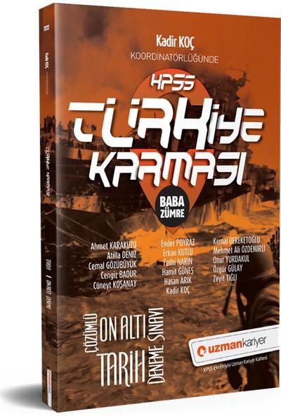 Uzman Kariyer KPSS Tarih 16 Deneme Türkiye Karması Tamamı Çözümlü
