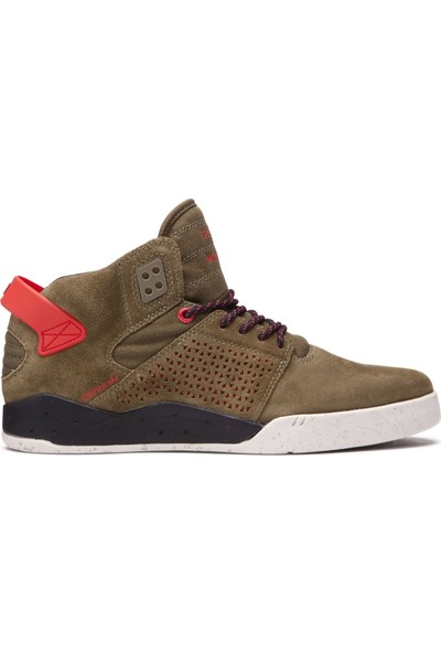 Supra Skytop iii Olive Risk Kırmızı Ayakkabı