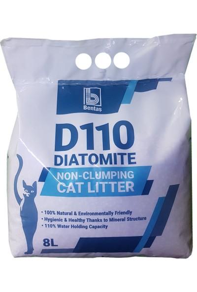 Bentaş D110 Diatomite Topaklanmayan Natural Kedi Kumu 8 Litre 4'lü
