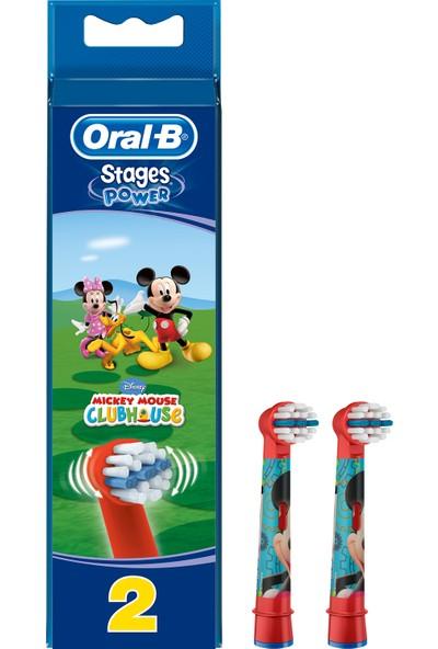 Oral-B Stages Cocuklar İcin Diş Fırcası Yedek Başlığı Mickey 2 Adet