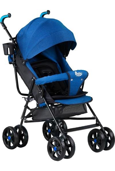 Babyhope S-A-7 Tam Yatar Baston Bebek Arabası Mavi