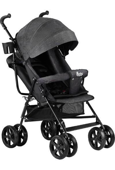 Babyhope S-A-7 Tam Yatar Baston Bebek Arabası Siyah