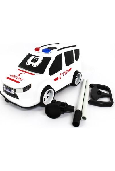 Çalkan Plastik Aksesuarlı Ambulans 32 cm