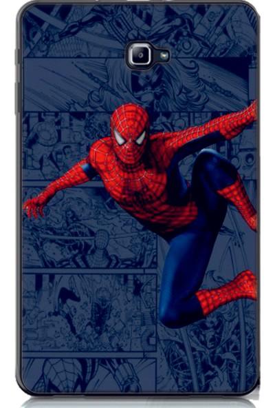 """GoGo Samsung Galaxy Tab A SM-T580 2016 Kılıf 10.1"""" Örümcek Adam Desenli Baskılı Silikon Kılıf"""