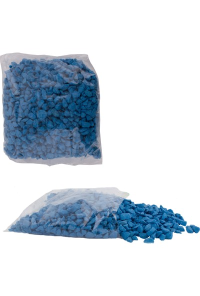 Euro Flora Dekoratif Taş Pebble Col. Pk +/- 1,5 Kg.açık Mavi