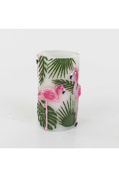 Euro Flora Flamingolu Led Mum 8X14,5 Cm