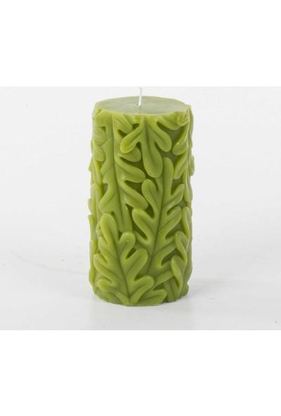 Euro Flora Yaprak Motifli Dekoratif Mum 7,5X14,5 Cm