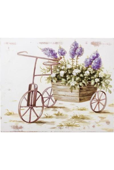 """Euro Flora Dekoratif Ahşap Tablo """"bisiklet"""" 25X30X3 Cm"""