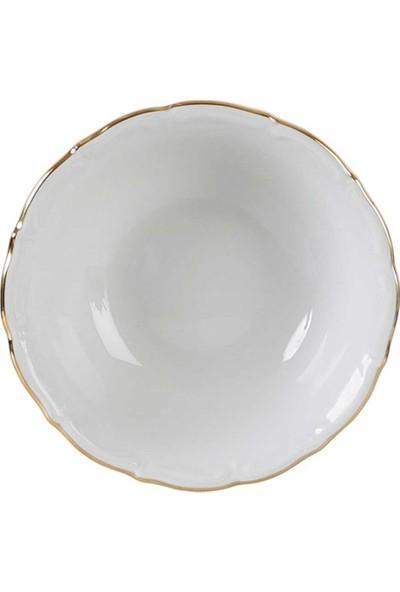 """Euro Flora Porland Porselen Kase """"altın Yaldız """" 15X5,5 Cm"""