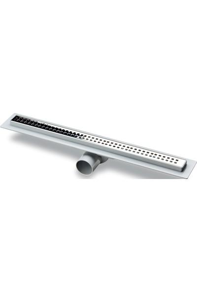 Say Çelik Carmine 50 Cm Duş Kanalı Abs Kasalı 50 mm Yandan Çıkışlı Piticare Desenli
