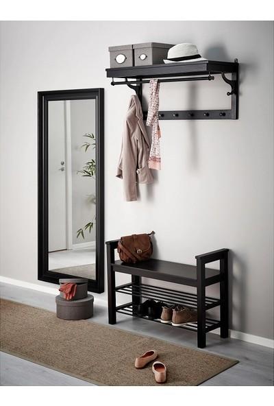 Evcazım Salon Boy Aynası Düz Çerçeve Siyah