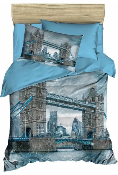 Özinci 3D Londra Köprüsü Temalı Tek Kişilik Nevresim Takımı