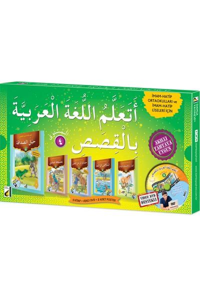 Damla Yayınevi Hikayelerle Arapça Öğreniyorum Seviye 4 5 Kitap+Dvd+4 Poster