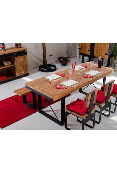 Monywood Masif Ahşap Yemek Masası