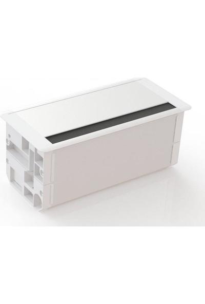 Ksi Design 16 Modüllü Priz Kutusu, A316 S R9016 Beyaz