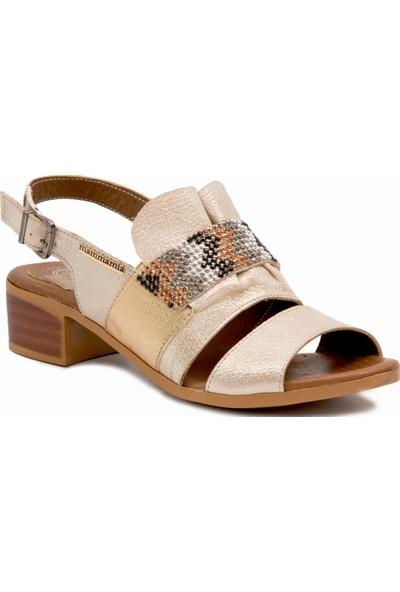 Mammamia D19YS 1380 Bej Terlik Sandalet