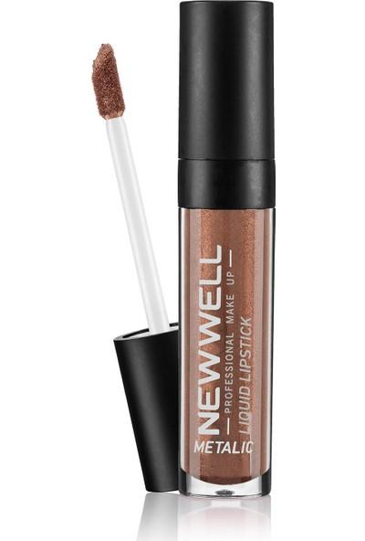 New Well Liquid Metalic Lipstick Ruj 353