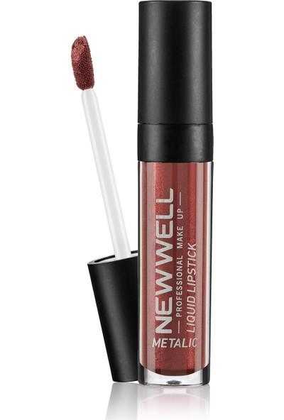 New Well Liquid Metalic Lipstick Ruj 355
