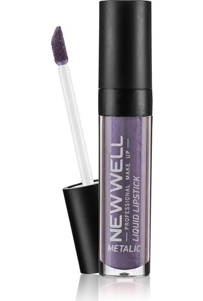 New Well Liquid Metalic Lipstick Ruj 357