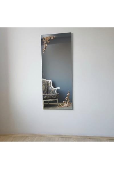 NEOSTILL - Ahşap Gold/Altın Süslemeli Dekoratif Boy Ayna A507d