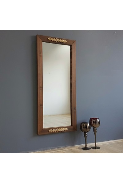NEOSTILL-Ahşap Çerçeve Gold/Altın Süsleme Dekoratif Ayna A501y