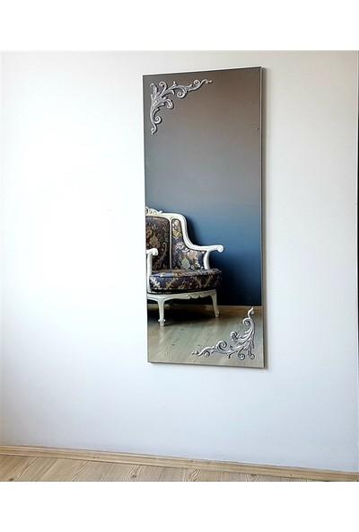 NEOSTILL- Ahşap Gümüş Süslemeli Dekoratif Duvar Boy Ayna A504d