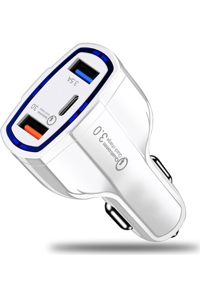 Makt 3.5A Type-C Hight Speed Dual USB Pd Car Charger Araç Şarjı