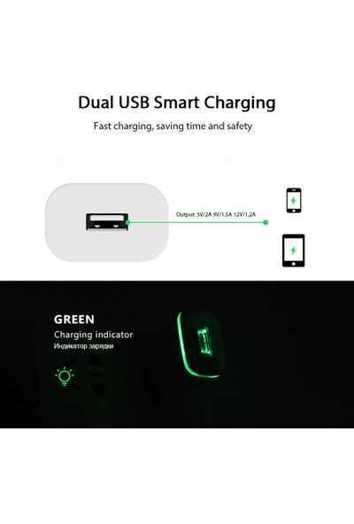 Tonmeister MAKT 2.1 A Fast Charger Hızlı Priz Şarj Aleti Cihazı