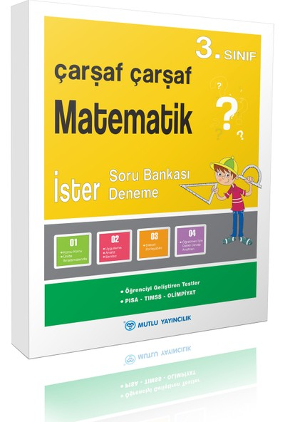 Mutlu Yayınları Çarşaf Çarşaf Matematik 3.Sınıf