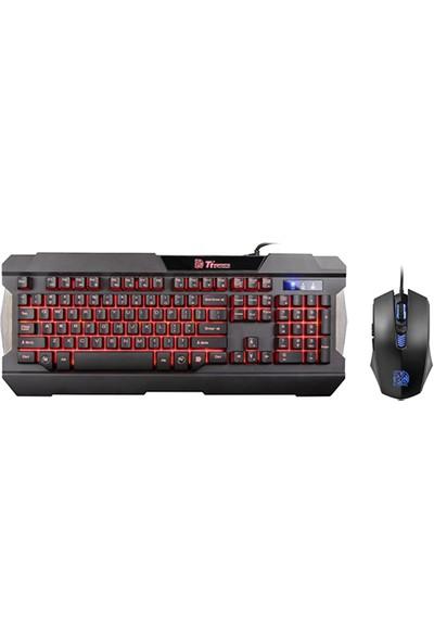 Thermaltake Tt eSPORTS Commander Combo Kırmızı Işıklı Oyuncu Klavye + Mouse seti TTS-KB-CMC-PLBDTK-01