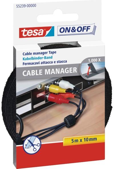 Tesa On&Off Kablo Organizatörü Siyah 5m 10mm