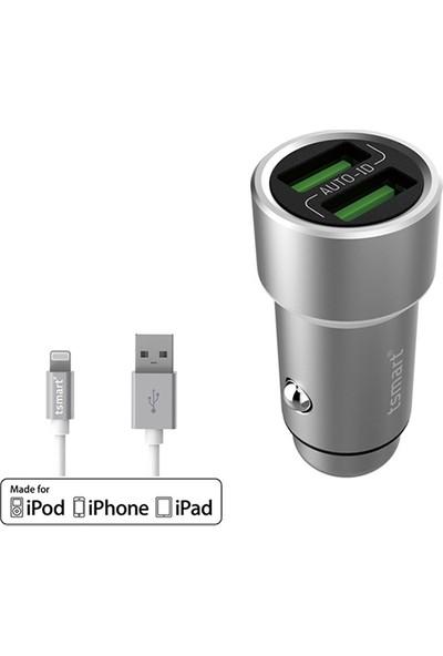 Tsmart Apple Mfı Şarj Kablolu Tsmart Araç Şarj Cihazı