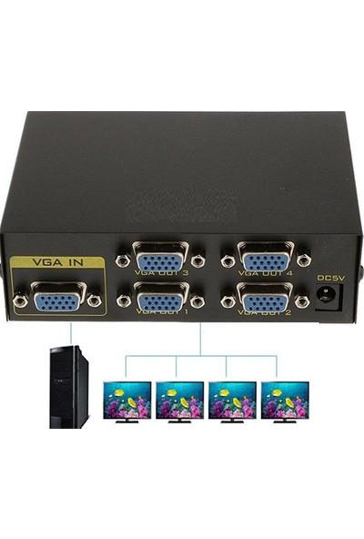 Alfais 4873 4 Port Vga Splitter Switch Çoklayıcı Çoğaltıcı