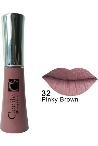 Cecile Kalıcı Mat Ruj / Long Kisses Lipgloss 32