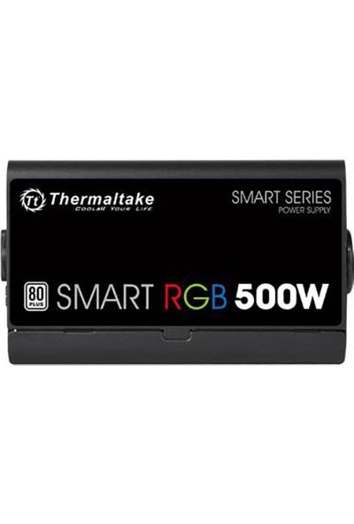 Thermaltake Smart 500W 80+ 12cm RGB Led Fanlı PSU (PS-SPR-0500NHSAWE-1)
