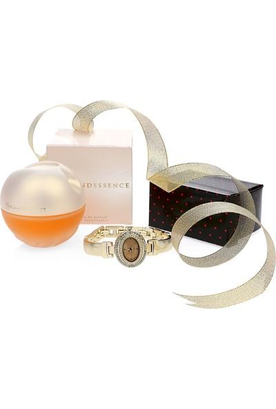 Avon Incandessence Kadın Parfüm + Saat 2 li Set Paketi